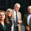 Photo of RREAC members Emmy Terry, Professor Sue Trinidad, Bruce Manning, and Brian Ellis