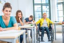 Photo of a Female Student in a Wheelchair