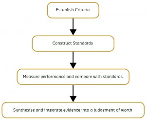 Image of the Evaluation process in flow chart format