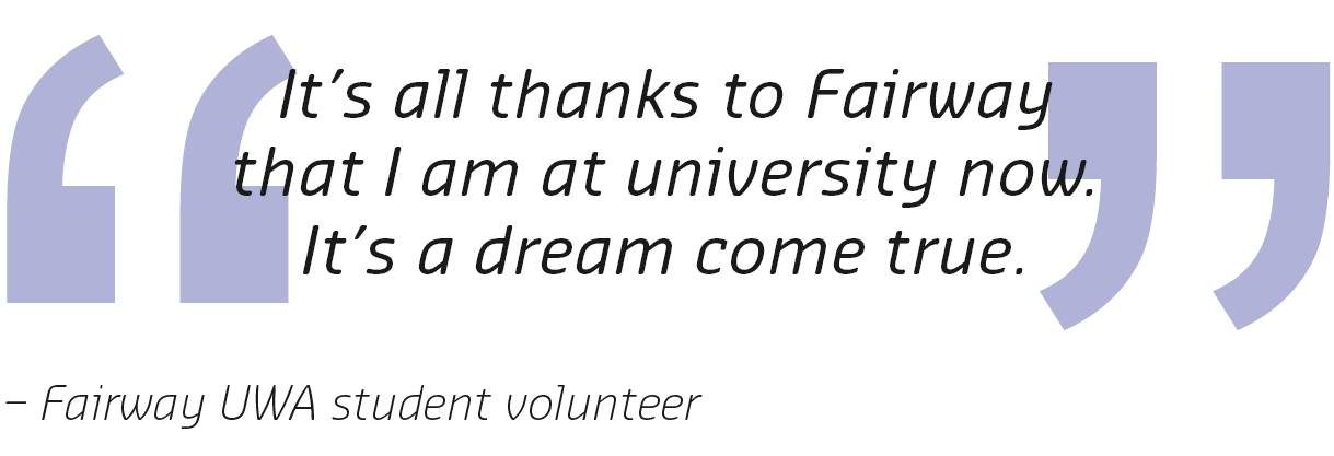 Fairway UWA student quote