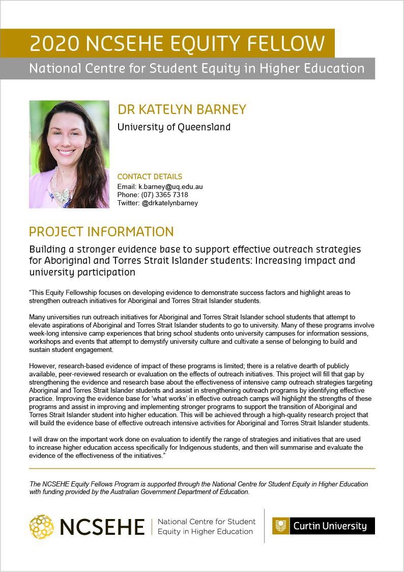 Katelyn Barney Equity Fellow Flier