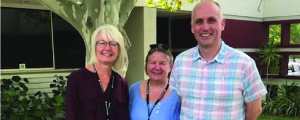 Sarah O'Shea, Sue Ellis and Alastair Wilson