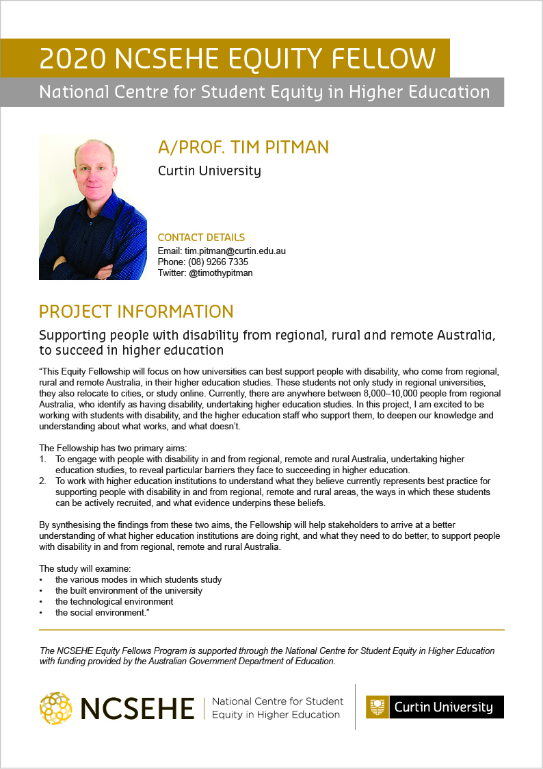 Tim Pitman Equity Fellow Flier