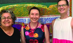 Professor Tracey Bunda, Dr Katelyn Barney and Hayley Williams at the Aboriginal and Tor...