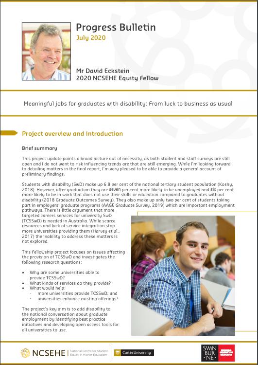 David Eckstein Equity Fellowship Bulletin