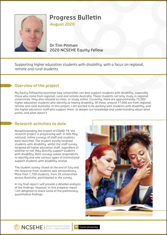 Tim Pitman Fellowship bulletin cover